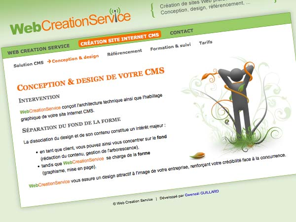 WebCreationService CMS